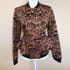 🏷Price Drop •Trouve Leopard Print Peplum Jacket